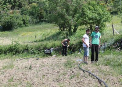 Chantier irrigation